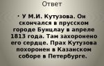 Где похоронено сердце м. и. кутузова