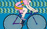 Иллюзия движущегося велосипеда