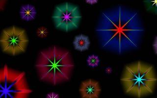 Иллюзия сверкающий звезды